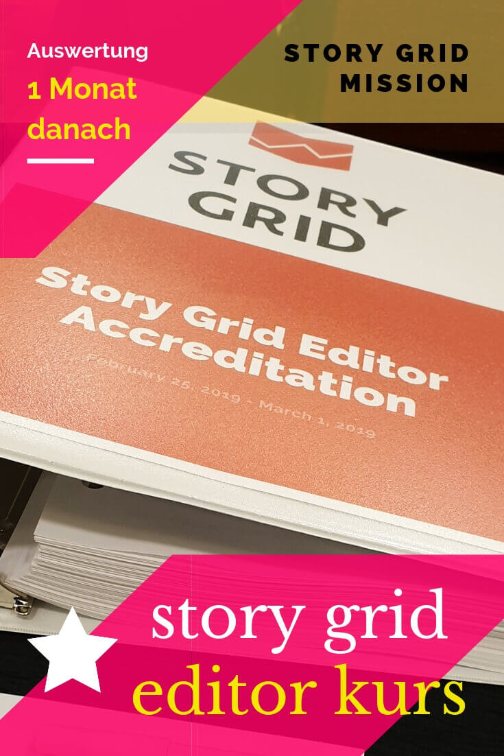 Auswertung des Story Grid Certified Editor Kurses